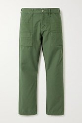 Citizens Of Humanity Leah Cotton Twill Straight Leg Cargo Pants Army Green