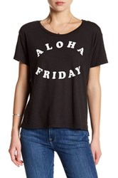 Sundry Aloha Friday Short Sleeve Tee Black