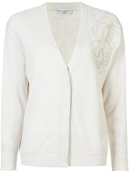Brunello Cucinelli V Neck Cardigan White