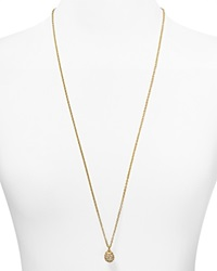 T Tahari Crystal Pave Ball Necklace 32 Gold