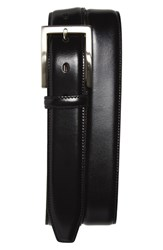 Men's Big And Tall Johnston And Murphy Calfskin Belt Black