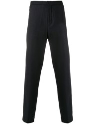 Stephan Schneider Relaxed Fit Suit Trousers Cashmere Wool S Blue