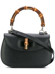 Gucci Bamboo Classic Top Handle Shoulder Bag Black