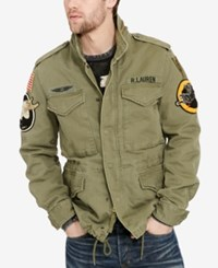 Denim And Supply Ralph Lauren Men's Herringbone Field Jacket Olive