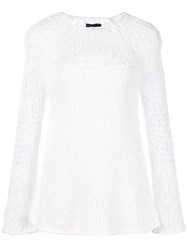 Theory Knitted Top White