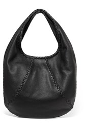 Bottega Veneta Hobo Large Textured Leather Shoulder Bag Black
