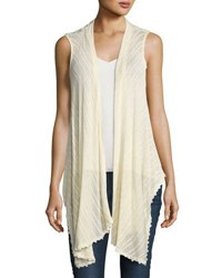 Madison And Berkeley Sleeveless Floral Back Lace Vest Light Beige