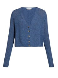 The Row Abigael V Neck Cardigan Light Blue