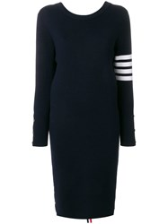 Thom Browne Front To Back Cardigan Dress Blue