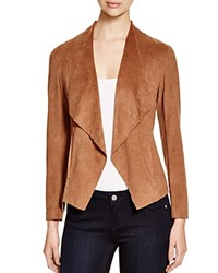Prive Draped Faux Suede Jacket Latte