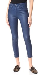 L'agence Margot High Rise Skinny Coated Jeans Blue