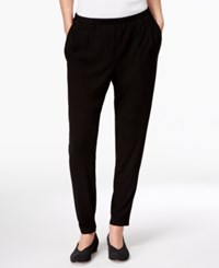 Eileen Fisher Slouchy Ankle Pants Black