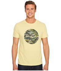 Rvca Water Camo Motors Tee Bright Lemon Men's T Shirt Yellow