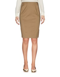 Alaia Knee Length Skirts Khaki