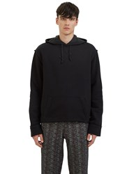 Aganovich Pinstripe Patch Hooded Sweater Black