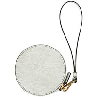 Jaeger Leather Coin Purse Keyring Grey