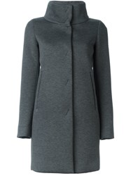 Herno Single Breasted Coat Grey