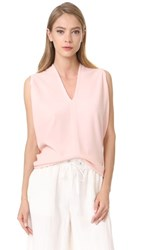 Narciso Rodriguez Cocoon Short Sleeve Top Blush