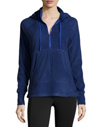Marc Ny Performance Fleece Sweater W Drawstring Hood Indigo