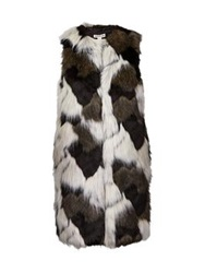 Whistles Patchwork Faux Fur Gilet Multi