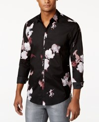 Inc International Concepts Men's Abstract Floral Shirt Only At Macy's Black