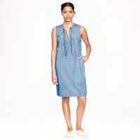 J.Crew Washed Chambray Dress