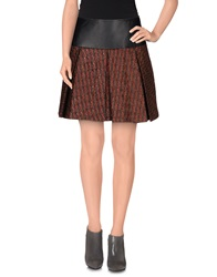 Kristina Ti Mini Skirts Brick Red