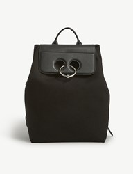 J.W.Anderson Pierce Cotton Canvas And Leather Backpack Black