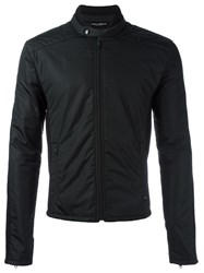 Dolce And Gabbana Panelled Padded Jacket Black