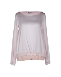 Pinko Black Blouses Light Pink