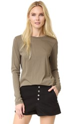Helmut Lang Detached Cuff Long Sleeve Tee Army