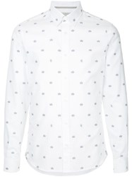 Gieves And Hawkes Crown Print Shirt White