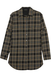 Belstaff Olivia Plaid Cotton Blend Shirt Black