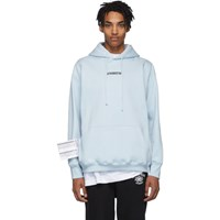 Vetements Blue Inverted Logo Hoodie