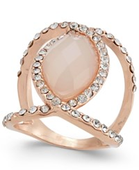 Inc International Concepts Rose Gold Tone Pave And Pink Stone Ring Only At Macy's