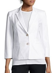 Lafayette 148 New York Daniela Stretch Cotton Canvas Blazer