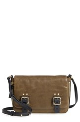 Vince Camuto Delos Leather Crossbody Bag Green Split Pea