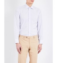 Turnbull And Asser Checked Slim Fit Cotton Shirt White Grey