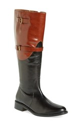Women's Johnston And Murphy 'Lyla' Tall Boot Black Roast Leather