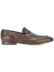 Officine Creative 'Claude' Penny Loafers Brown
