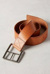 Anthropologie Angled Leather Belt Dark Yellow