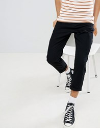 Another Influence Pleated Loose Cropped Chinos Black