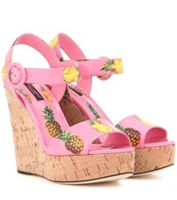 Dolce And Gabbana Printed Wedges Multicoloured
