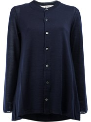 Comme Des Garcons Button Up Cardigan Blue