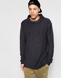 Pull And Bear Sweatshirt With Funnel Neck In Washed Black Washed Black