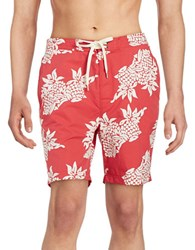 Brooks Brothers Tropical Swim Shorts Red