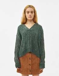Which We Want Sienna Hooded Sweater Brown Green