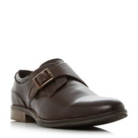 Howick Barrister Single Strap Monk Shoes Brown