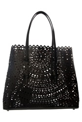 Azzedine Alaia Vienne Cutout Medium Bag Black