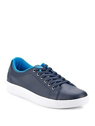 Penguin Lace Up Round Toe Sneakers Navy